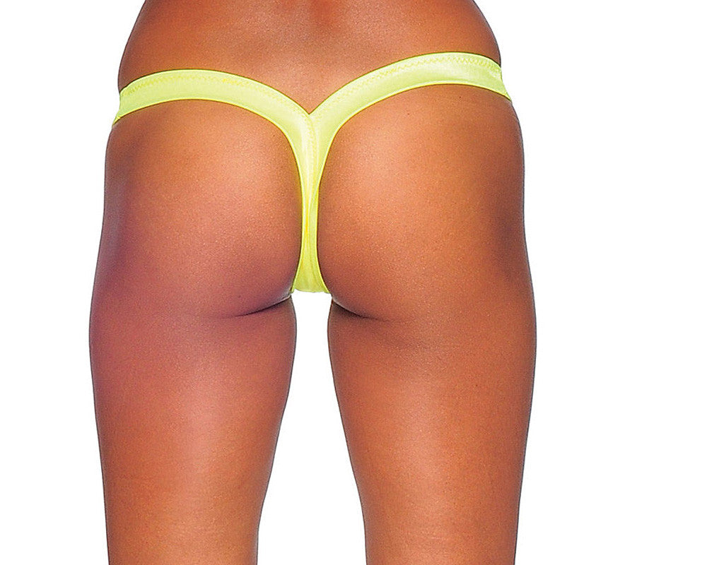 Pole Dancers Comfort V Neon  Yellow Thong