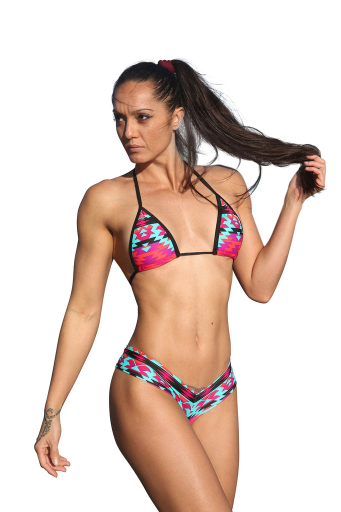 Aztac Print Two Piece Short Set-Stripper Clothing