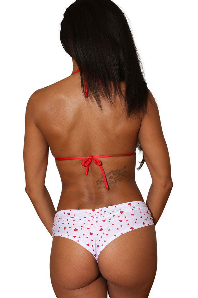 Two Piece Heart Print Short Set-Stripper Clothing