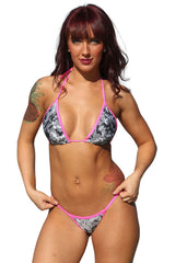 2pc Digital Bikini With Scrunch Thong Set Stripper Outfits