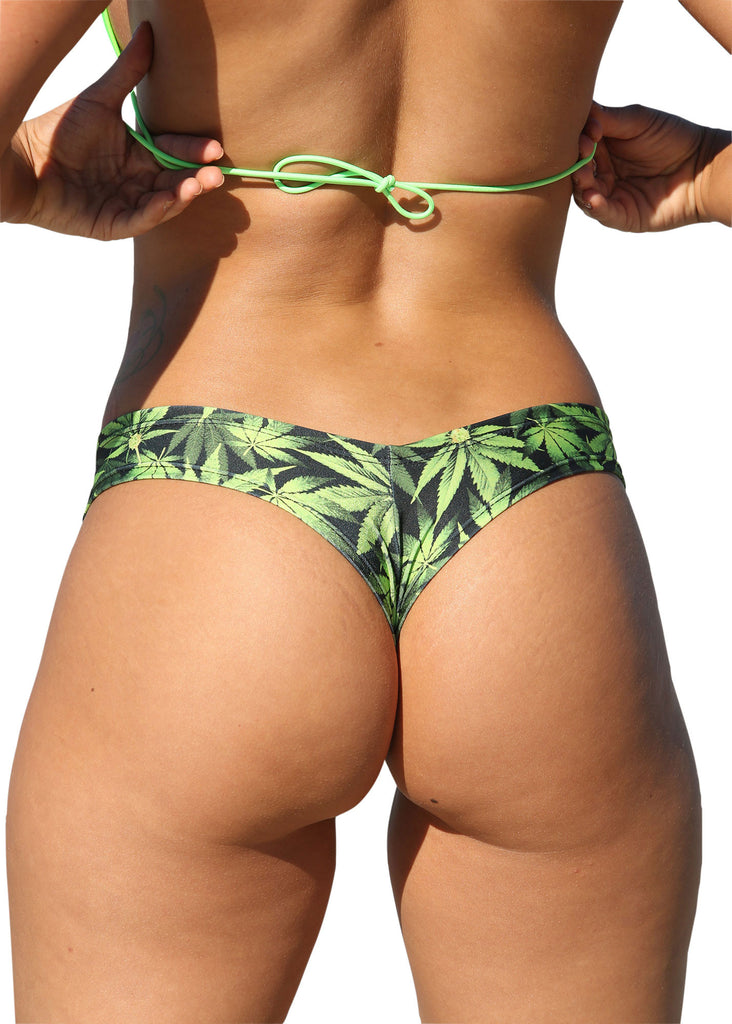 Mini Marijuana Print  Booty Shorts Marijuana Clothing