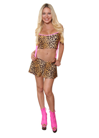 Leopard Print Skirt Set- Club Wear By Sassy Assy