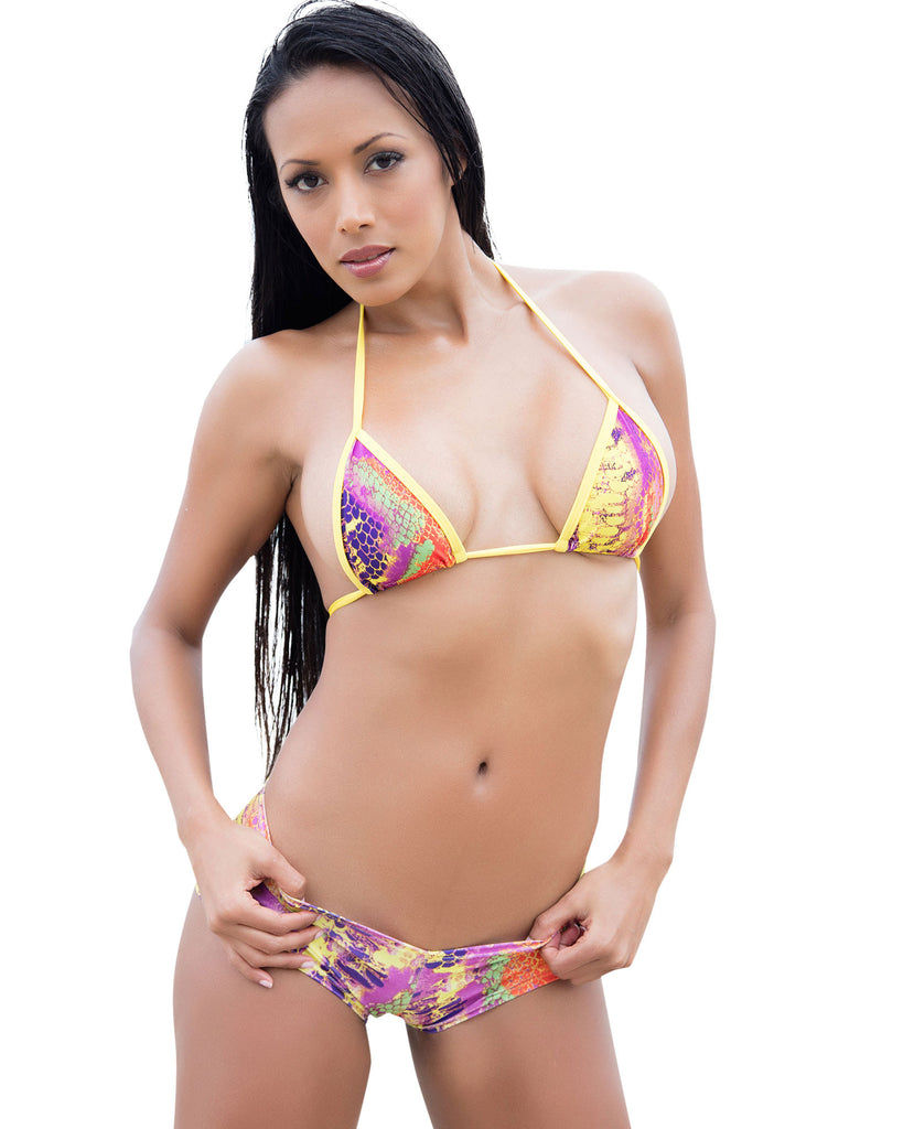 Bright Snake Bikini Set-Women Swimwear