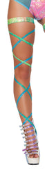 100 Inch Laser Print Leg Strap With Attached Garter Ravewear