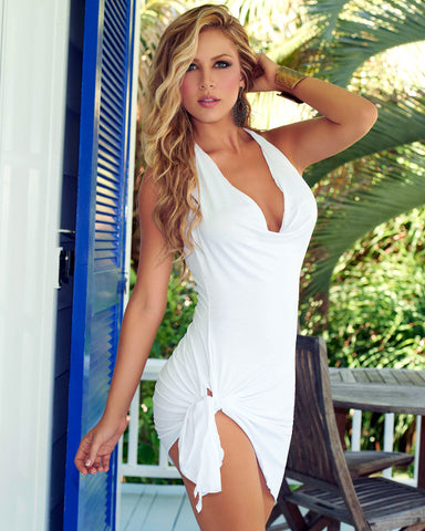 Tie Side Beach Dress Swimwear Coverups