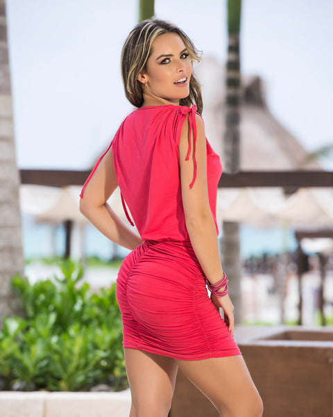Sexy V Neck Mini Summer Dress