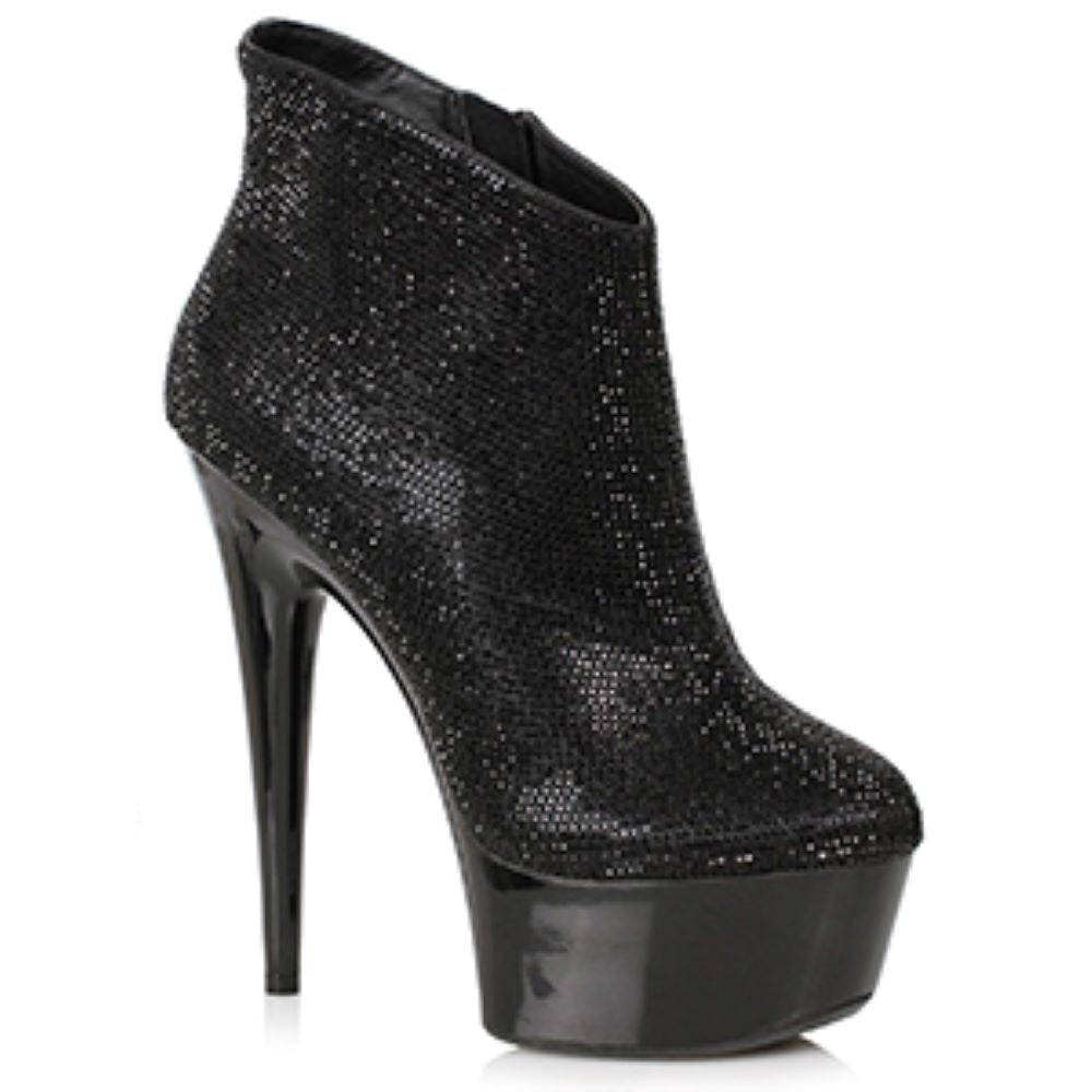 Platform Ankle Boots With 6 Inch Stiletto Heel By Ellie Shoes