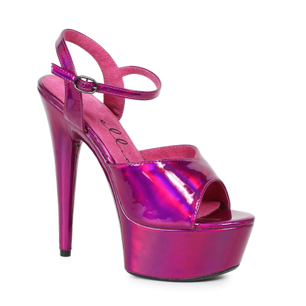 Metallic Fuchsia Ankle Strap Sandals Stripper Shoes