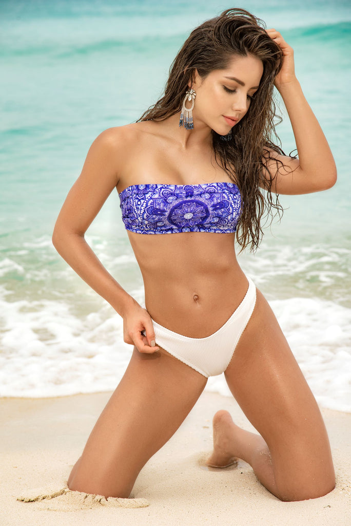 Two Piece Swimsuit With Bandeau Top