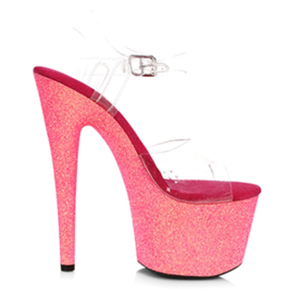 Ankle Strap Sandal With 7 Inch Stiletto Heel Stripper Shoes