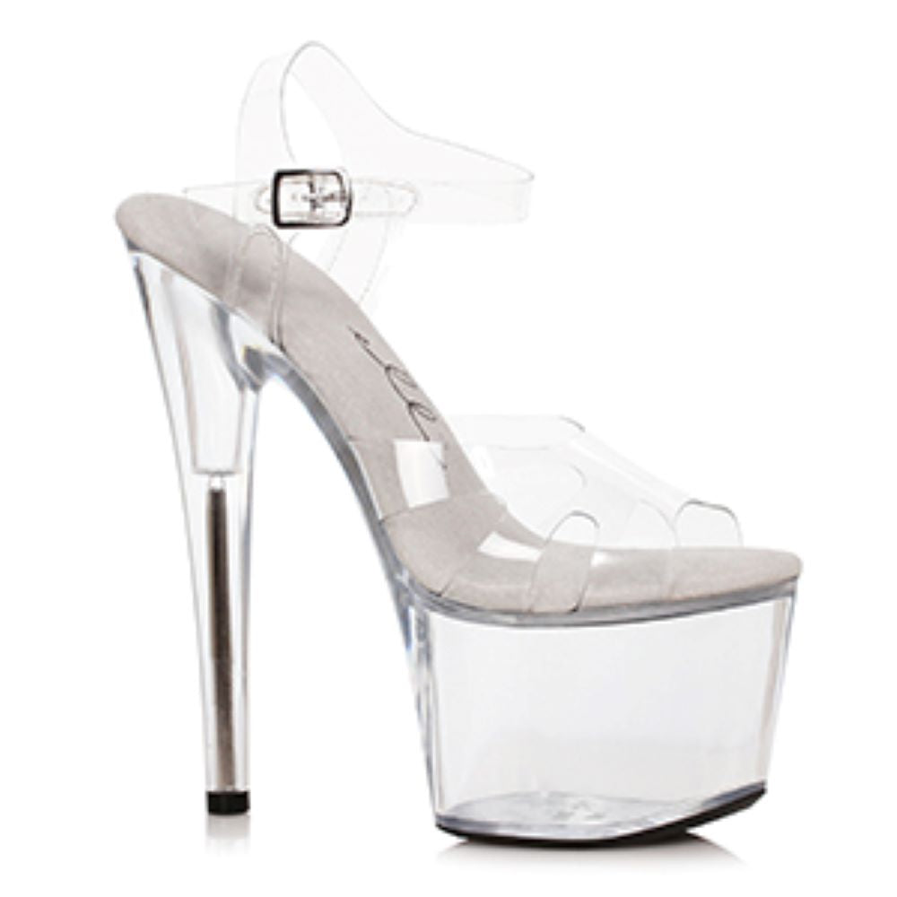 Platform Ankle Strap Sandal Clear Stripper Shoe