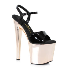 Black Ankle Strap Sandals Comes With 8 Inch Stiletto Heel Stripper Shoes