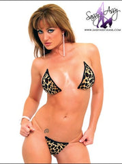 Leopard Print Micro String Bikini-Scrunch Butterfly Bottom