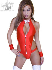 Tuxedo style One piece outfit -pole dance wear