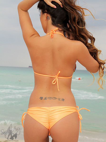 Orange Double String Bikini