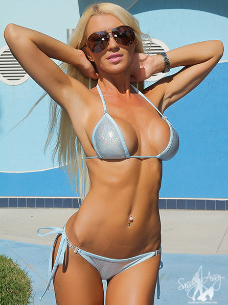 Ice Bikini With Swarovski Crystal Straps
