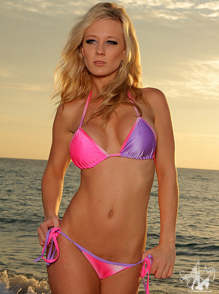 Ribbon Tie Side Bikini  Swimwear