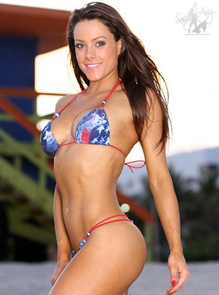 Micro String Bikini red-white-blue for the 4th of July