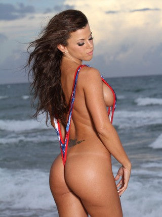 Patriotic Naked Sling Pole Dance Wear