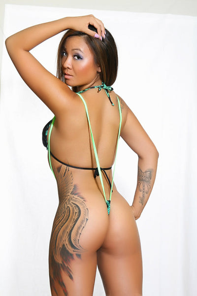 Marijuana Clothing V-Thong Sling Shot-Stripper Clothing