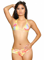 Tie Dye Booty Short Set Pole Dancers Clothing