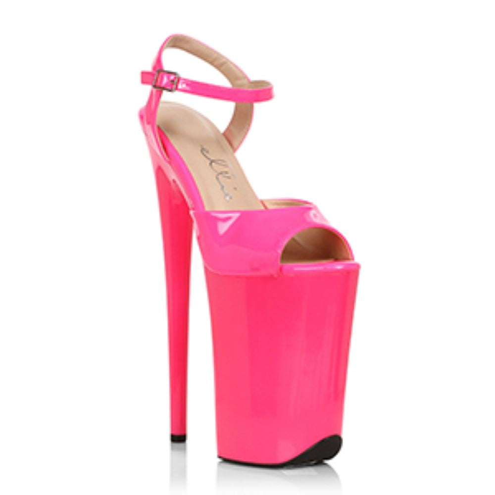 9 Inch Stiletto Heel Ankle Strap Sandal Stripper Shoes