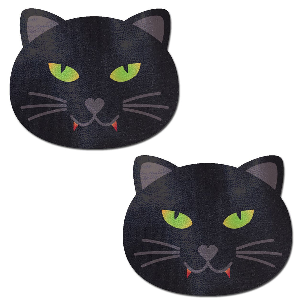 Black Vampire Halloween Kitty Cat Nipple Covers