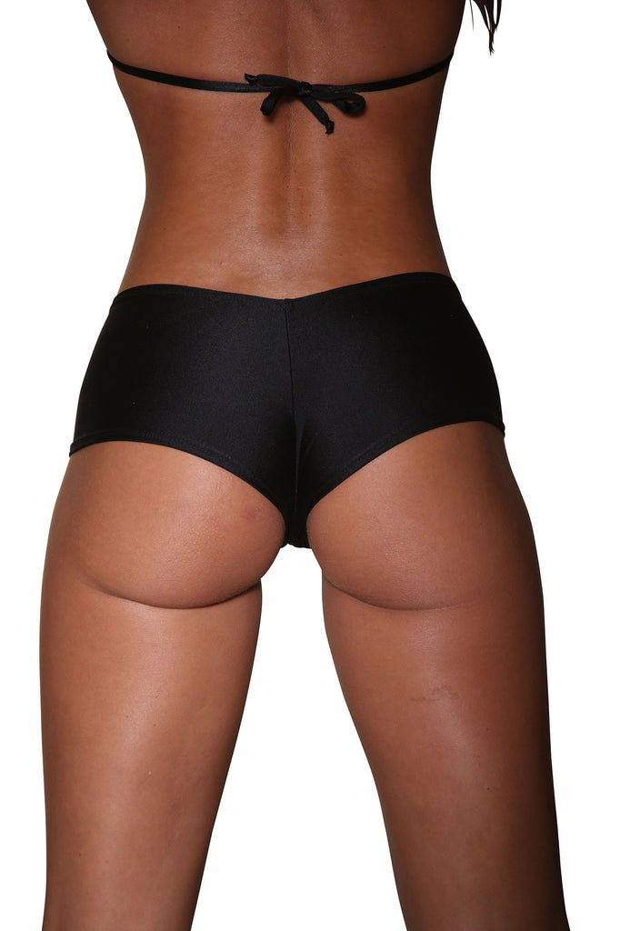 Black Basic Cheeky Booty Shorts Stripper Clothes