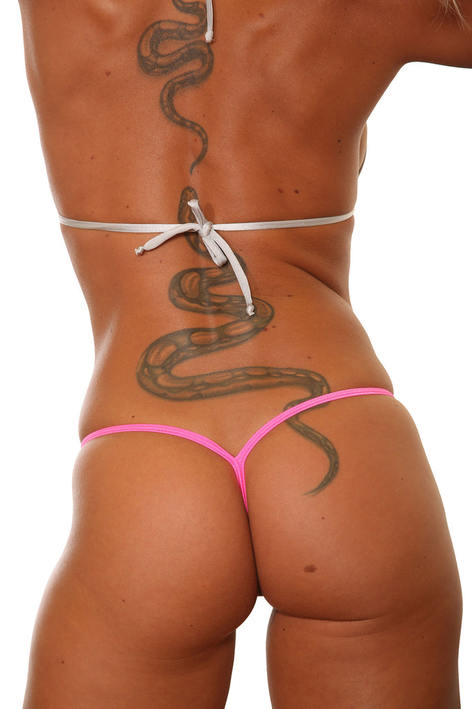 Camo V Back Stripper Thong G-String Panties