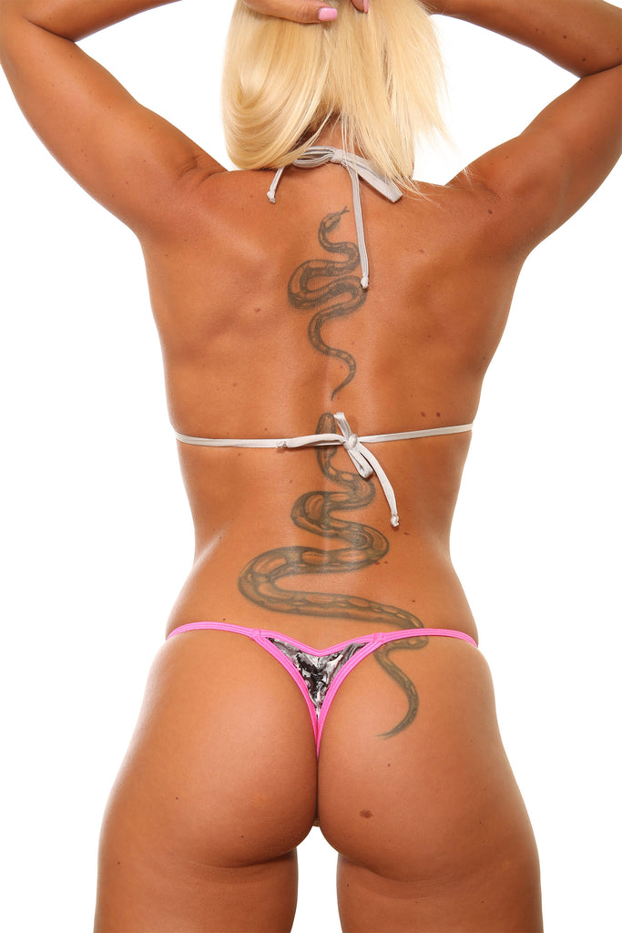 Camo Mini Scrunch Thong Bottom Stripper Clothing