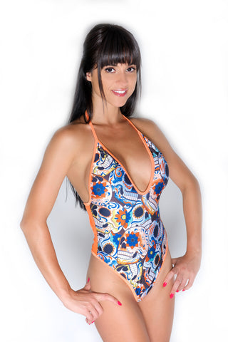 Day of the Dead Skull Bodysuits