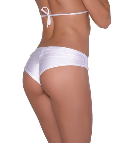 White Scrunchie Booty Short Stripper Clothing