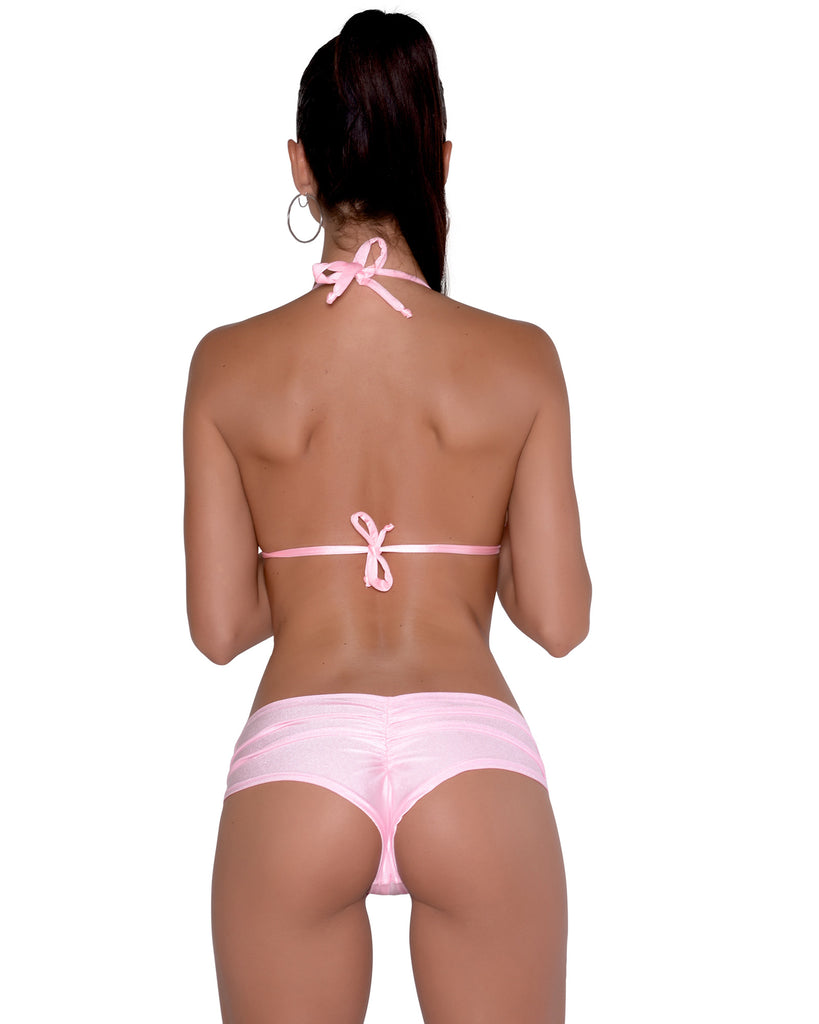 Baby Pink Scrunchie Booty Short Stripper Clothing