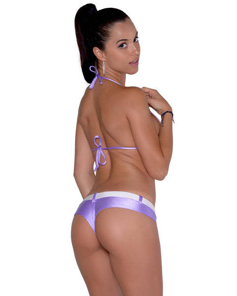 New Purple Belted Booty Short By Sassy Assy