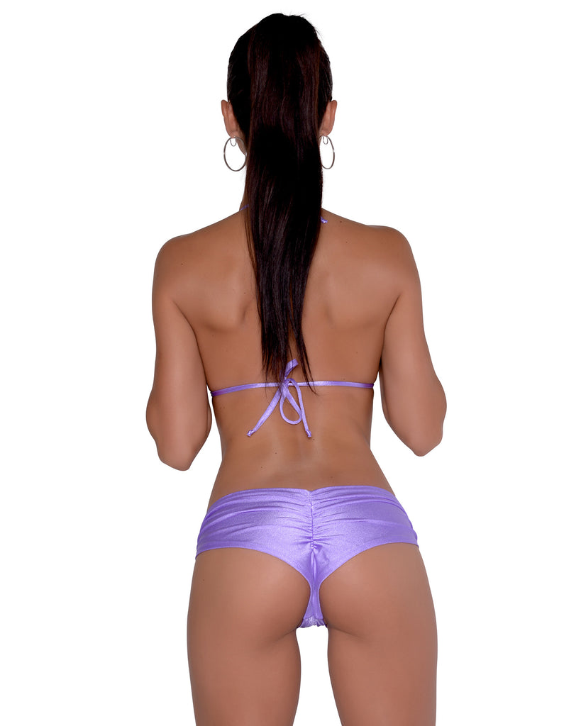 Purple Scrunchie Booty Short Stripper Clothing