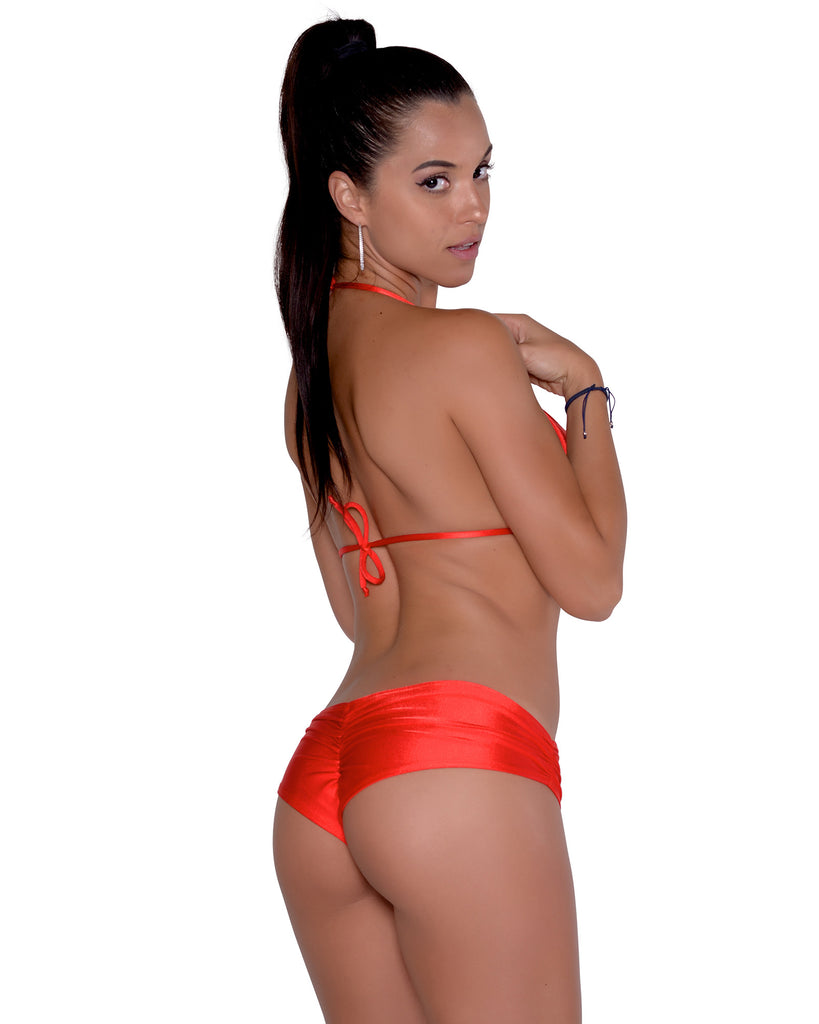 Red Scrunchie Booty Short