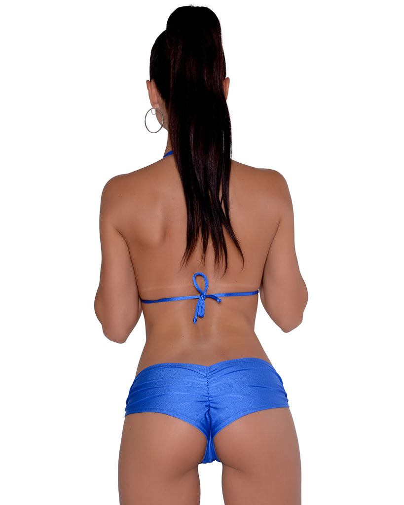 Royal Blue Scrunchie Booty Short Stripper Clothing