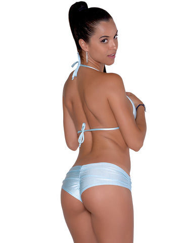 Baby Blue Scrunchie Booty Short Stripper Clothing