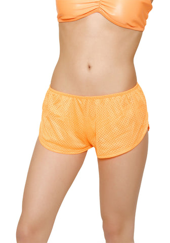 Orange Beach Shorts Bikini Bottom Cover Up-Resort Wear