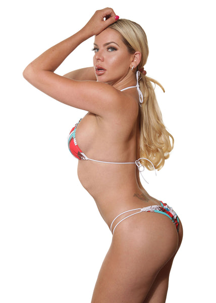 Abstract Print String Bikini -String Bikinis By Sassy Assy