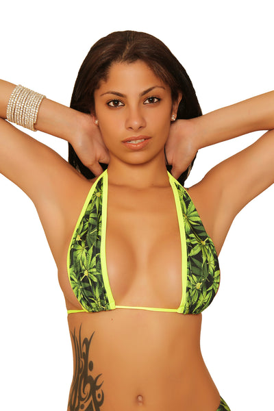 Marijuana Leaf Print Halter Top Marijuana Clothing