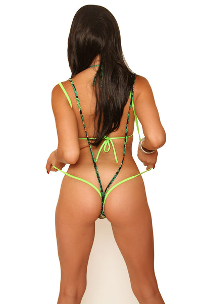 New Marijuana Bud Print Dancers Sling Shot-Stripper Clothing