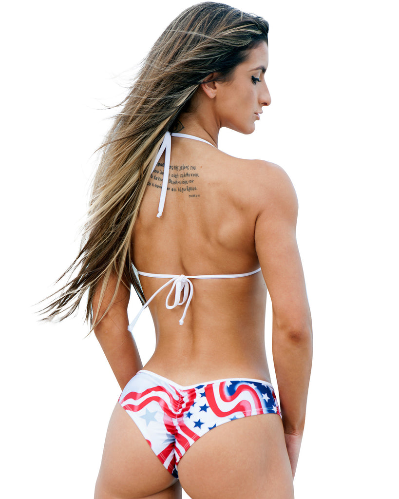 Stars And Stripes One Piece Monkini Swimwear