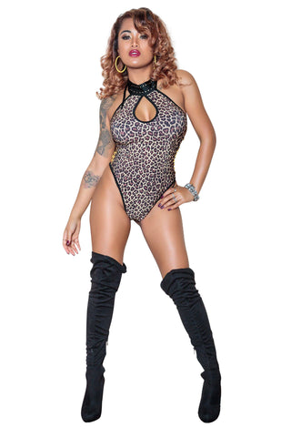 Leopard Print Body Suit By Sassy Assy Clothing
