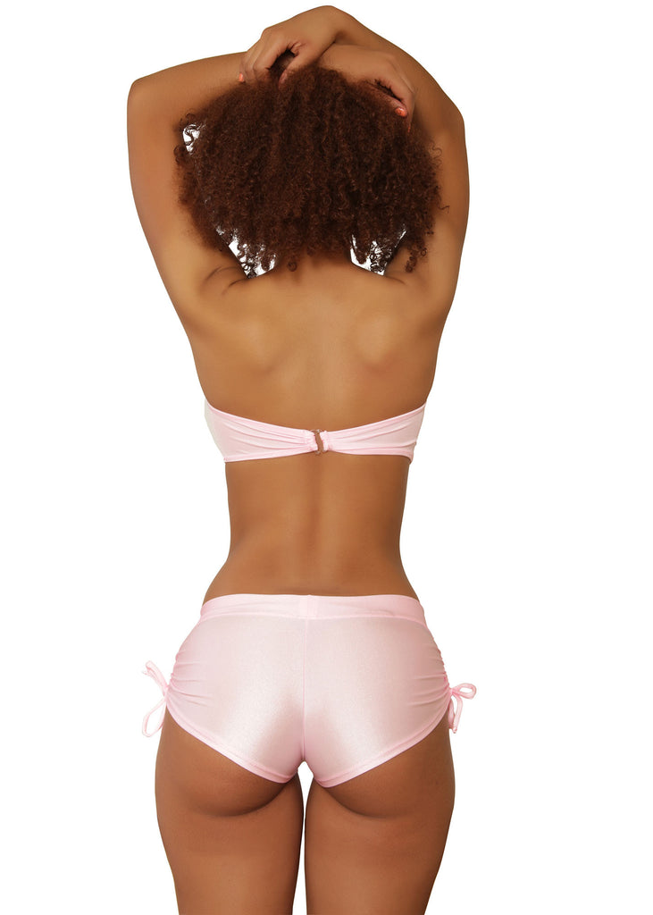 Cheeky Pink Tie Side Shorts- Sassy Assy