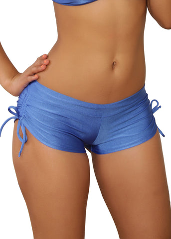 Cheeky Royal Blue Tie Side Shorts- Sassy Assy