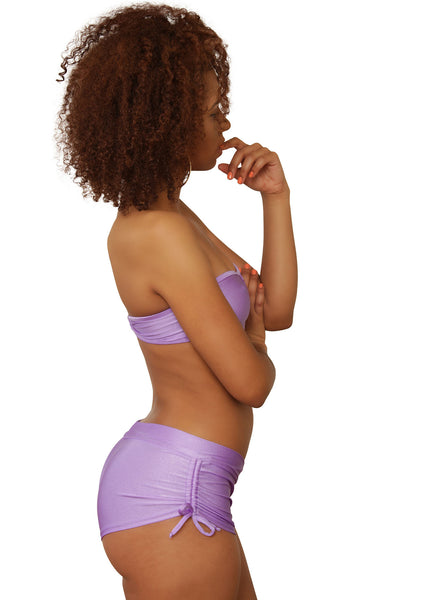 Cheeky Purple Tie Side Shorts- Sassy Assy