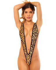 Sassy Leopard Naked Sling Shot Bikini-Stripper Clothes