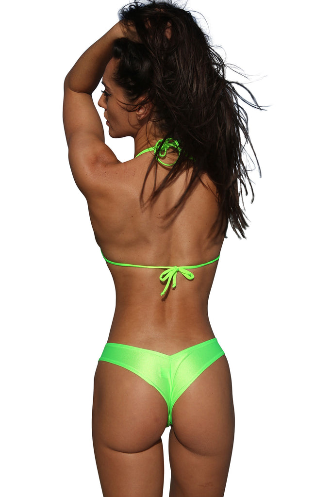 Neon Green Mini Booty Shorts Stripper Clothes