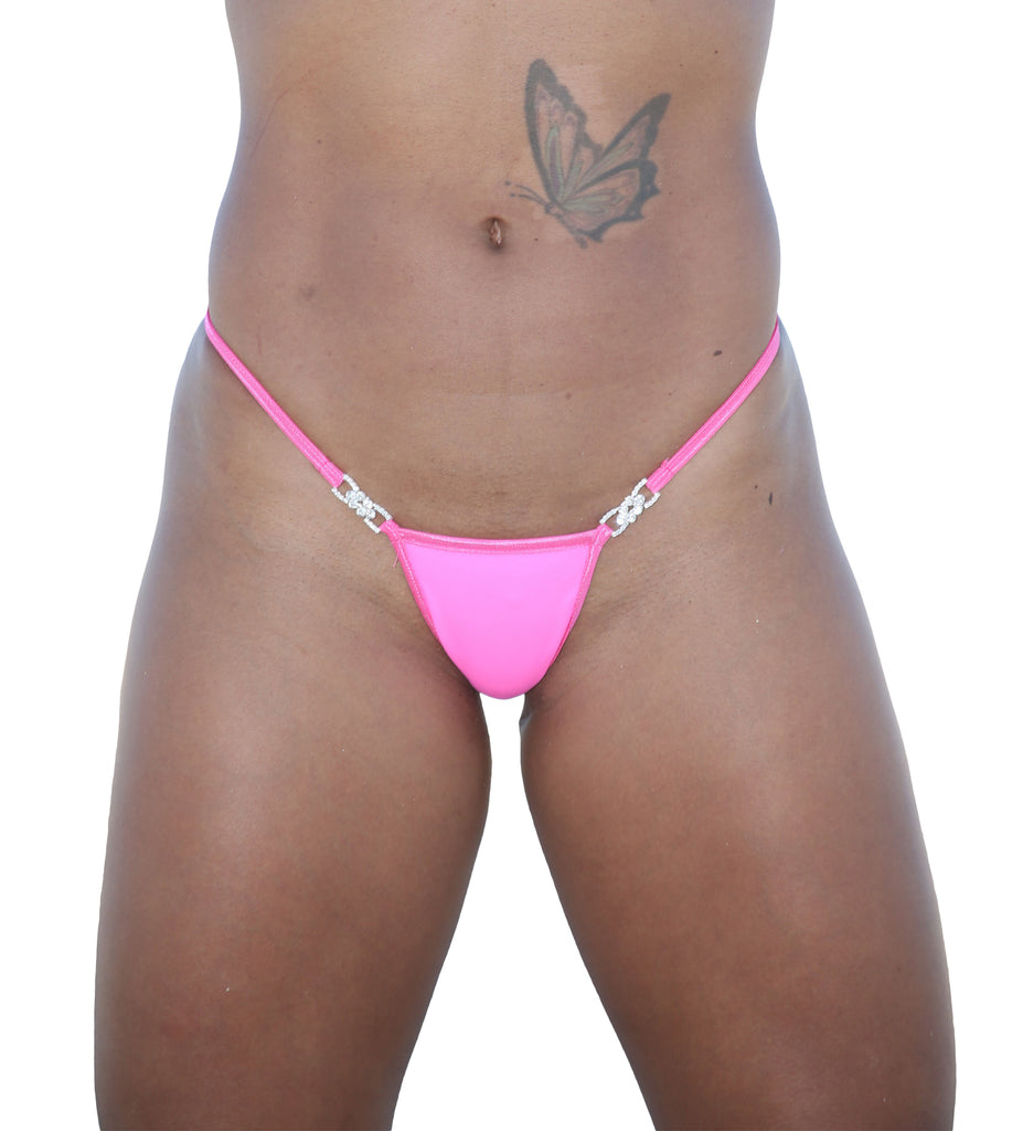 Neon Pink Break Away Thong Stripper Clothing